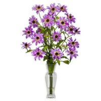 Nearly Natural Artificial Purple Cosmos Arrangement in Vase