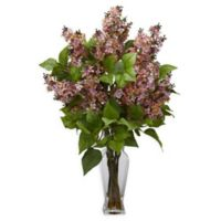 Nearly Natural Artificial Pink Lilac Arrangement in Vase