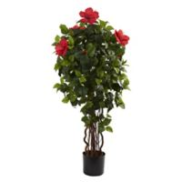 Nearly Natural™ 4-Foot Hibiscus Tree in Nursery Pot