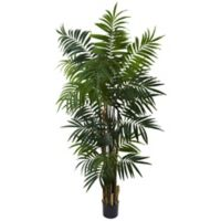 Nearly Natural 6-Foot Bulb Areca Artificial Palm Tree