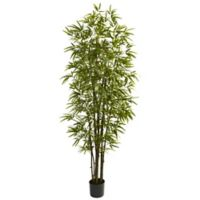 Nearly Natural 7- Foot Green Artificial Bamboo Tree
