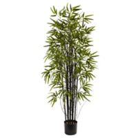 Nearly Natural 5-Foot Artificial Black Bamboo Tree