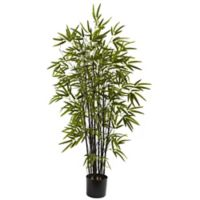Nearly Natural 4-Foot Artificial Black Bamboo Tree