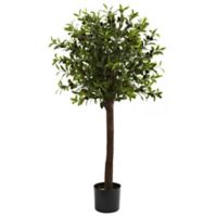 Nearly Natural 4-Foot Artificial Olive Topiary Tree
