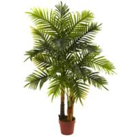 Nearly Natural 4-Foot Artificial Areca Palm Tree in Planter