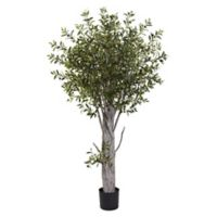 Nearly Natural 6-Foot Artificial Olive Tree
