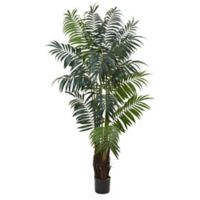 Nearly Natural 7.5-Foot Artificial Bulb Areca Palm Tree
