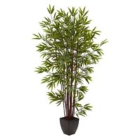 Nearly Natural 6-Foot Artificial Bamboo Tree in Planter