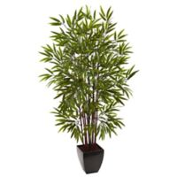 Nearly Natural 5-Foot Bamboo Artificial Tree with Planter