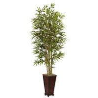 Nearly Natural 6-Foot Bamboo Artificial Tree with Planter