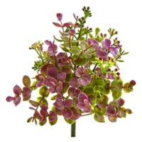 Nearly Natural 8-Inch Artificial Eucalyptus and Sedum Plant (Set of 12)