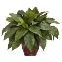 Nearly Natural 23-Inch Bird's Nest Fern Artificial Plant with Decorative Vase