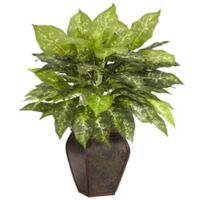 Nearly Natural 23-Inch Dieffenbachia Artificial Plant with Decorative Vase