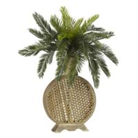 Nearly Natural 25-Inch Cycas Artificial Plant with Decorative Vase