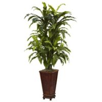 Nearly Natural 57-Inch Artificial Marginatum with Decorative Planter