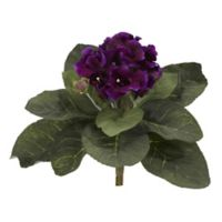 Nearly Natural 11-Inch Artificial Gloxina Plants (Set of 4)