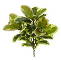Nearly Natural Real Touch 23-Inch Rubber Leaf Plants (Set of 3)
