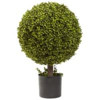 Nearly Natural 27-Inch Boxwood Ball Topiary