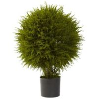 Nearly Natural 32-Inch Cedar Ball Topiary