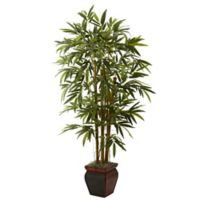 Nearly Natural 5.5' Bamboo with Decorative Planter