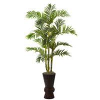 "Nearly Natural 62"" Areca Tree with Decorative Planter"