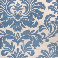 Surya Athena Medallion 4' Square Hand Tufted Area Rug in Blue