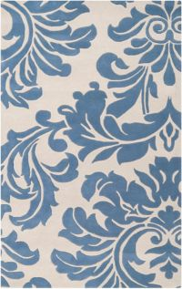 Surya Athena Medallion 6' x 9' Hand Tufted Area Rug in Blue