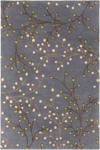 Surya Athena Floral 6' x 9' Handcrafted Area Rug in Blue/Brown