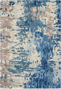 Surya Banshee Modern 2' x 3' Handcrafted Accent Rug in Blue