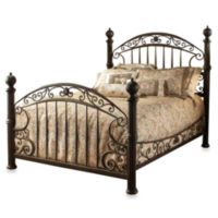 Hillsdale Chesapeake Queen Complete Bed in Rustic Brown