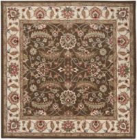 Surya Caesar Classic Floral 9'9 Square Rug in Dark Brown