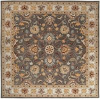 Surya Caesar Floral and Leaf 9'9 Square Area Rug in Charcoal