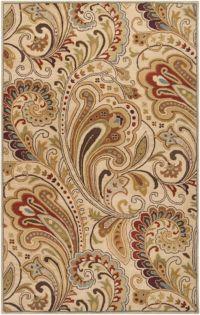Surya Aurora Floral Hand-Tufted 5' x 8' Area Rug in Neutral/Brown