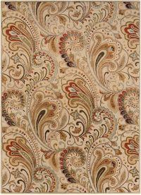 Surya Aurora Floral Hand-Tufted 8' x 11' Area Rug in Neutral/Brown