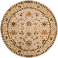 Surya Caesar Classic Floral 8' Round Rug in Khaki/Tan