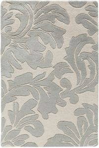 Surya Athena Medallion 2' x 3' Hand Tufted Accent Rug in Taupe/Gold
