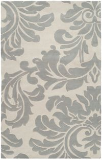 Surya Athena Medallion 4' x 6' Hand Tufted Area Rug in Taupe/Gold