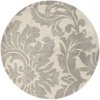 Surya Athena Medallion 6' Round Hand Tufted Area Rug in Taupe/Gold