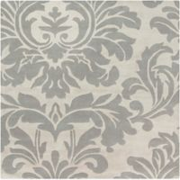 Surya Athena Medallion 6' Square Hand Tufted Area Rug in Taupe/Gold