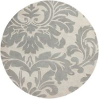 Surya Athena Medallion 8' Round Hand Tufted Area Rug in Taupe/Gold
