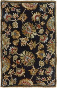 Surya Classic Caesar 2' x 3' Handcrafted Accent Rug in Black/Khaki