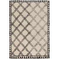 Surya Riad Shag 6' x 9' Area Rug in Black/Irony