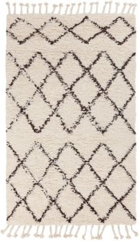 Surya Sherpa Shag 2' x 3' Area Rug in White/Black