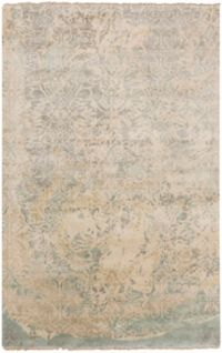 Surya Uncharted Medallion 2' x 3' Accent Rug in Grey