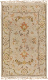 Surya Zeus 2' x 3' Hand Knotted Accent Rug in Khaki