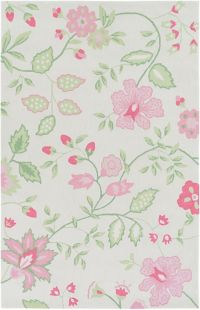 Surya Skidaddle Floral and Paisley 2' x 3' Accent Rug in Rose