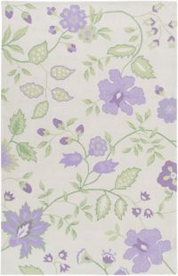 Surya Skidaddle Floral and Paisley 3' x 5' Area Rug in Purple