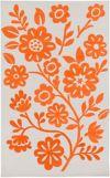 Orange/Ivory Area Rugs