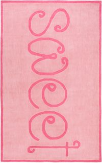 """Surya Skidaddle """"Sweet"""" Hand Tufted 7'6 x 9'6 Area Rug in Coral"""