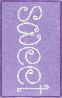 "Surya Skidaddle ""Sweet"" Hand Tufted 5' x 7'6 Area Rug in Bright Purple"